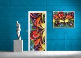 Colourful Graffiti Deurposter Fotobehang 140VET_