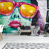 Graffiti Stenen Muur Fotobehang 12603P8_