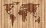 Wereldkaart Hout Fotobehang 2156P8_