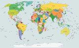 Wereldkaart Fotobehang 2644P8_
