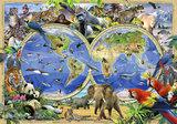 Wereldkaart Dieren Fotobehang 12842P8_