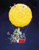 KEK Panel Hot Air Balloon PA-026 (Met Gratis Lijm)_