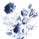 KEK Circle Royal Blue Flowers CK-002 (Met Gratis Lijm)_