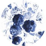 KEK Circle Royal Blue Flowers CK-001 (Met Gratis Lijm)_