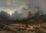 Rijksmuseum Landschap bij naderend onweer Willem Roelofs RM58 (Met Gratis Lijm)_