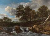 Rijksmuseum Landschap met waterval RM51 (Met Gratis Lijm)_