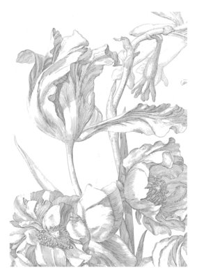 KEK Amsterdam Engraved Flowers I WP.327 (Met Gratis Lijm)
