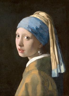 Mauritshuis Johannes Vermeer, Meisje met de parel 1665 MH1 (Met Gratis Lijm)