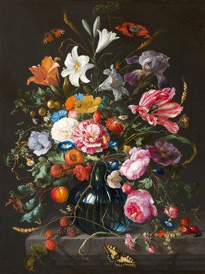 Mauritshuis Jan Davidsz de Heem, Vaas met bloemen 1670 MH2 (Met Gratis Lijm)