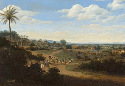 Mauritshuis Frans Post, Braziliaans landschap 1655 - 1660 MH4 (Met Gratis Lijm)