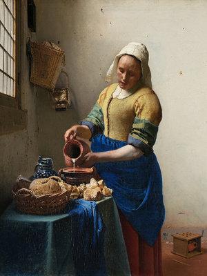 Rijksmuseum Het Melkmeisje Johannes Vermeer RM39 (Met Gratis Lijm)