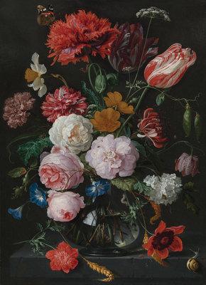 Rijksmuseum Stilleven met bloemen Jan Davidsz De Heem RM5 (Met Gratis Lijm)