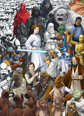 Star Wars Classic Cartoon Collage 4-4111