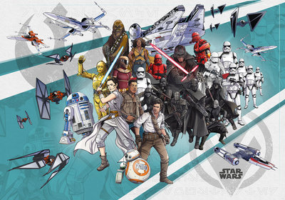 Star Wars Cartoon Collage Wide DX8-073