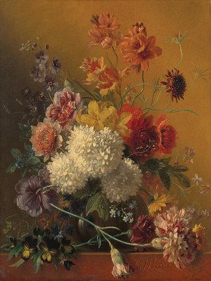 Rijksmuseum Stilleven met bloemen Georgius Jacobus Johannes van Os RM11 (Met Gratis Lijm)