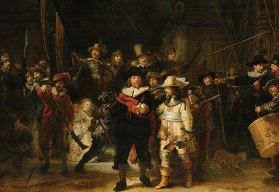 Rijksmuseum De Nachtwacht Rembrandt van Rijn RM45  (Met Gratis Lijm)
