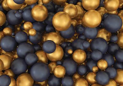Black and Gold Fotobehang 12123P8