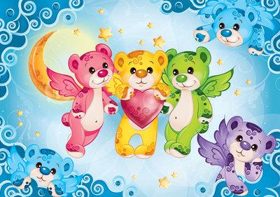 Rainbow Bears Fotobehang 507P8