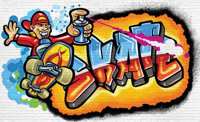 Graffiti Fotobehang 3052P8