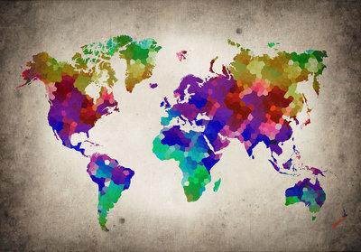 Wereldkaart Fotobehang 10009P8