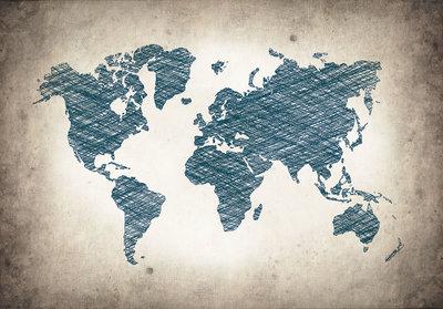 Wereldkaart Fotobehang 10010P8