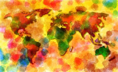 Wereldkaart Fotobehang 10423P8