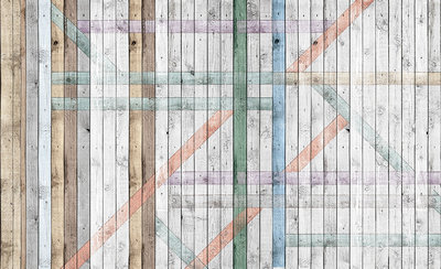 Hout - Steen - Beton Fotobehang 1098P8