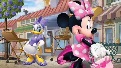 Mickey & Minnie Mouse Fotobehang 1675P8