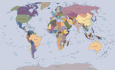 Wereldkaart Fotobehang 2142P8