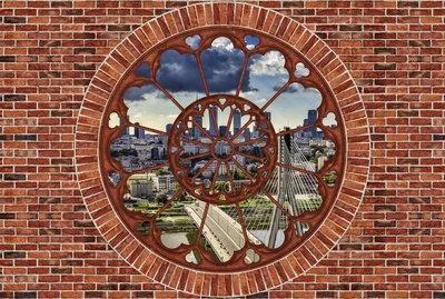 Hout - Steen - Beton Fotobehang 2182P8