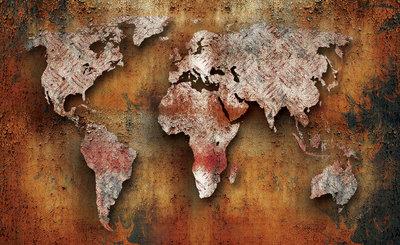 Wereldkaart Fotobehang 2892P8