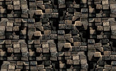 Hout - Steen - Beton Fotobehang 2913P8