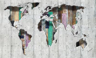 Wereldkaart Fotobehang 3134P8