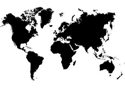 Wereldkaart Fotobehang 3604P8