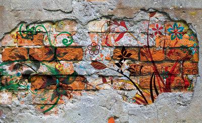 Hout - Steen - Beton Fotobehang 564P8