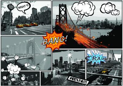 New York Comic Fotobehang 10676P8