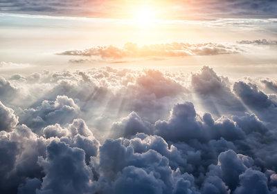 Fotobehang Wolken 10109P8