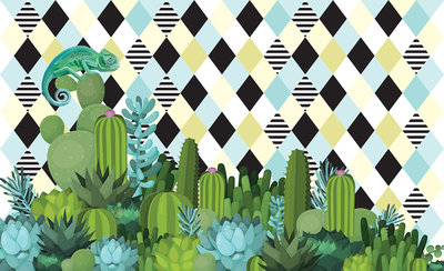 Cactus Geometrisch Fotobehang 11086P8