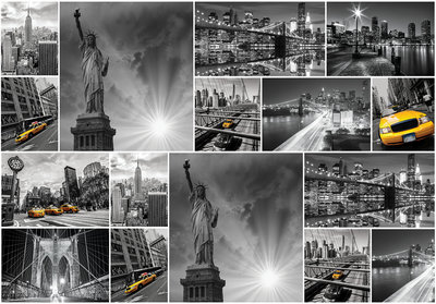 New York Collage Fotobehang 10461P8