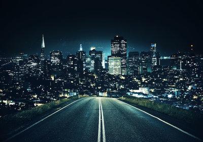 Road to City Fotobehang 11847P8