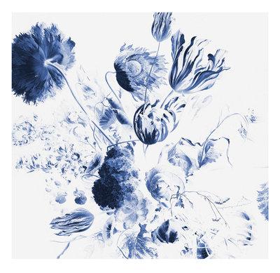 KEK Amsterdam Royal Blue Flowers II WP.218 (Met Gratis Lijm)