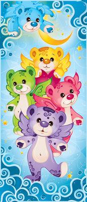 Rainbow Care Bear Bedroom Girls Deurposter Fotobehang 507VET