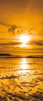 Sea Beach Sand Landscape Deurposter Fotobehang 261VET