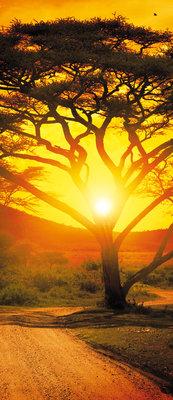 Sunset Landscape Deurposter Fotobehang 400VET