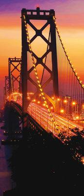 Golden Gate Bridge City Urban Deurposter Fotobehang 418VET