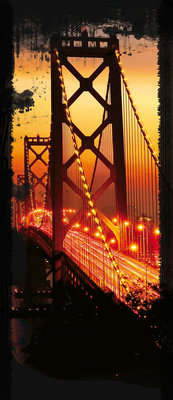 Golden Gate Bridge City Urban Deurposter Fotobehang 422VET