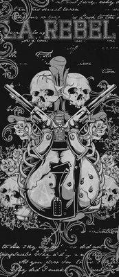 Music Rock Guitar Art Deurposter Fotobehang 841VET