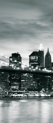 New York City and Brooklyn Bridge Deurposter Fotobehang 226VET