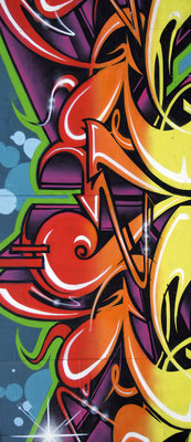 Colourful Graffiti Deurposter Fotobehang 140VET