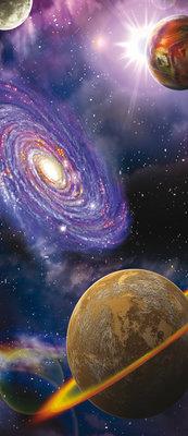 Space Galaxy Planets Deurposter Fotobehang 309VET